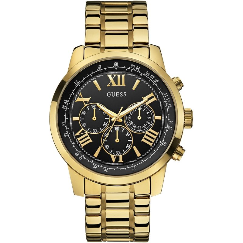 GUESS Men's chronograph gold bracelet watch