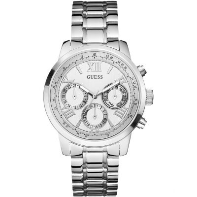 GUESS Ladies silver watch with multifunctional dial