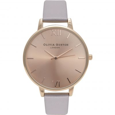 Sunray Dial Rose Gold  & Grey Lilac Watch