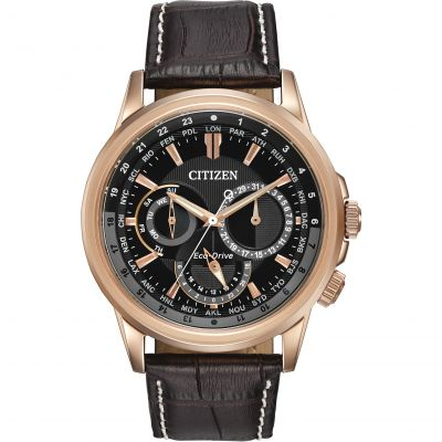 Citizen World Timer Herrenuhr in Braun BU2023-04E