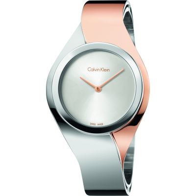 Calvin Klein Senses Medium Bangle Damenuhr in Zweifarbig K5N2M1Z6