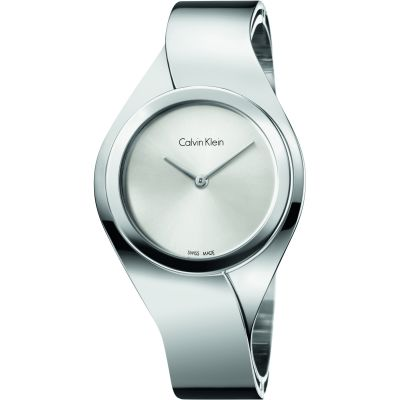 Calvin Klein Senses Small Bangle Dameshorloge Zilver K5N2S126