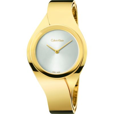 Calvin Klein Senses Small Bangle Damklocka Guld K5N2S526