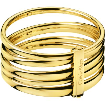 Ladies Calvin Klein PVD Gold plated Medium Sumptuous Bangle KJ2GJD10010M