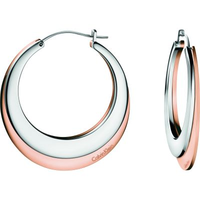 Ladies Calvin Klein Two-tone steel/gold plate Breathe Earrings KJ3DPE200100