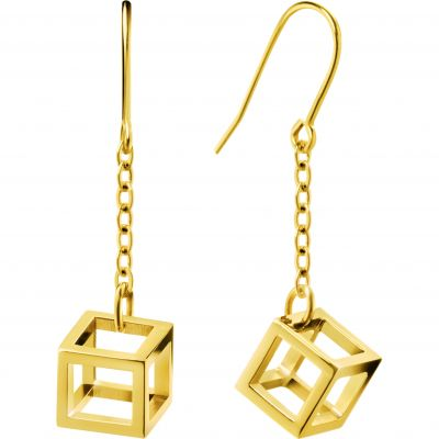 Ladies Calvin Klein PVD Gold plated Daring Earrings KJ3HJE100200