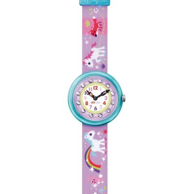 Childrens Flik Flak Cute Size Magical Unicorns Watch FBNP033