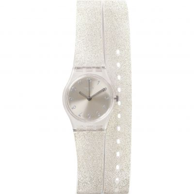 Ladies Swatch Lady - Silver Glistar Watch LK343