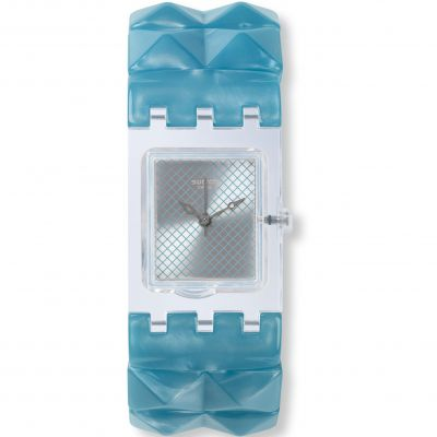 Ladies Swatch Original Square - Blue Posh L Watch SUBK157A