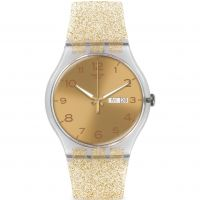 Unisex Swatch New Gent - Golden Sparkle Watch SUOK704