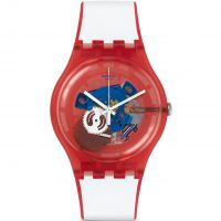 Unisex Swatch New Gent - Clownfish Red Watch SUOR102