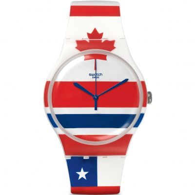Unisex Swatch New Gent - Flagtime Watch SUOW111