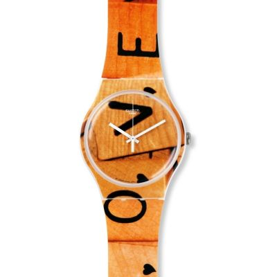 Swatch New Gent - Love Game Unisex horloge Oranje SUOW116
