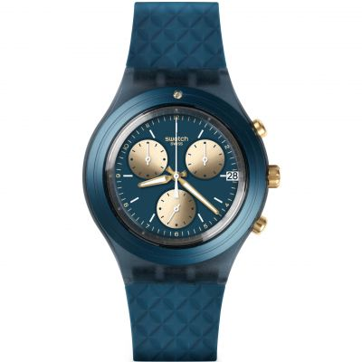 Unisex Swatch Irony Diaphane - Ardoise Chronograph Watch SVCN4006