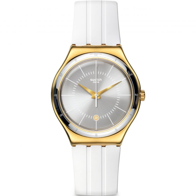 Unisex Swatch Irony Big - Whiteliner Watch YWG401