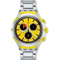 Mens Swatch Irony X-Lite - Lemon Squash Chronograph Watch
