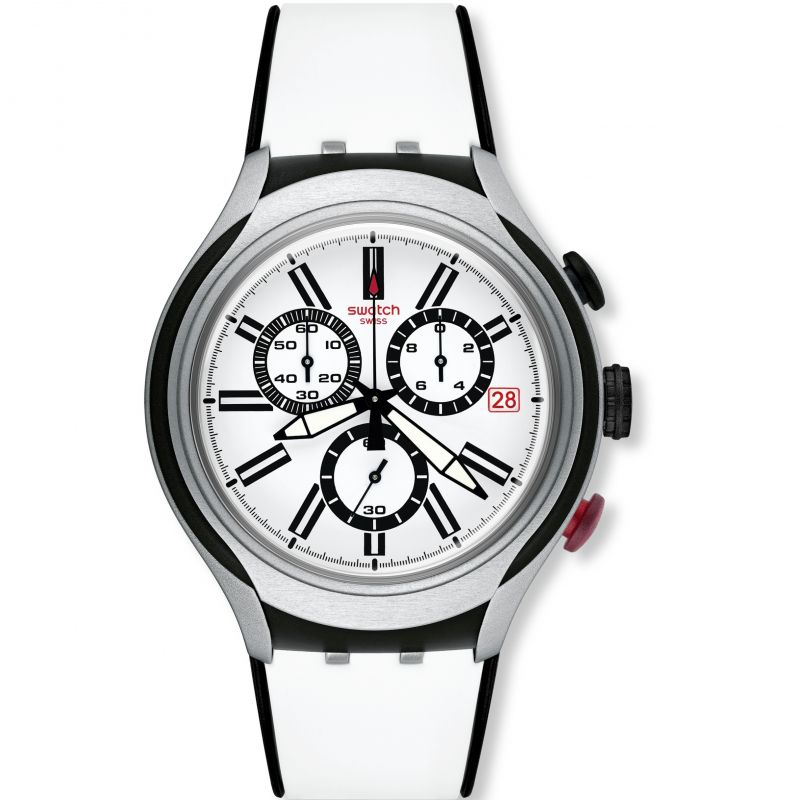 Mens Swatch Irony X-Lite - Black Wheel Chronograph Watch