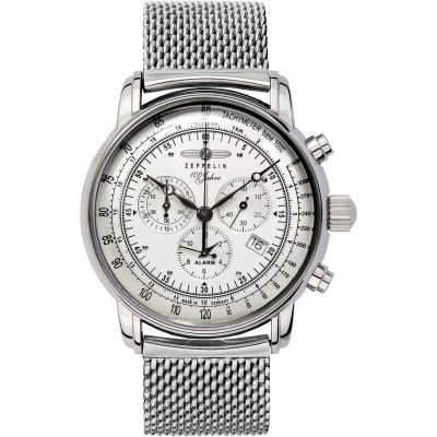 Mens Zeppelin 100 Jahre Alarm Chronograph Watch 7680M-1