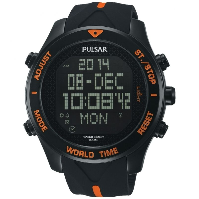 Mens Pulsar Alarm Chronograph Watch PQ2037X1