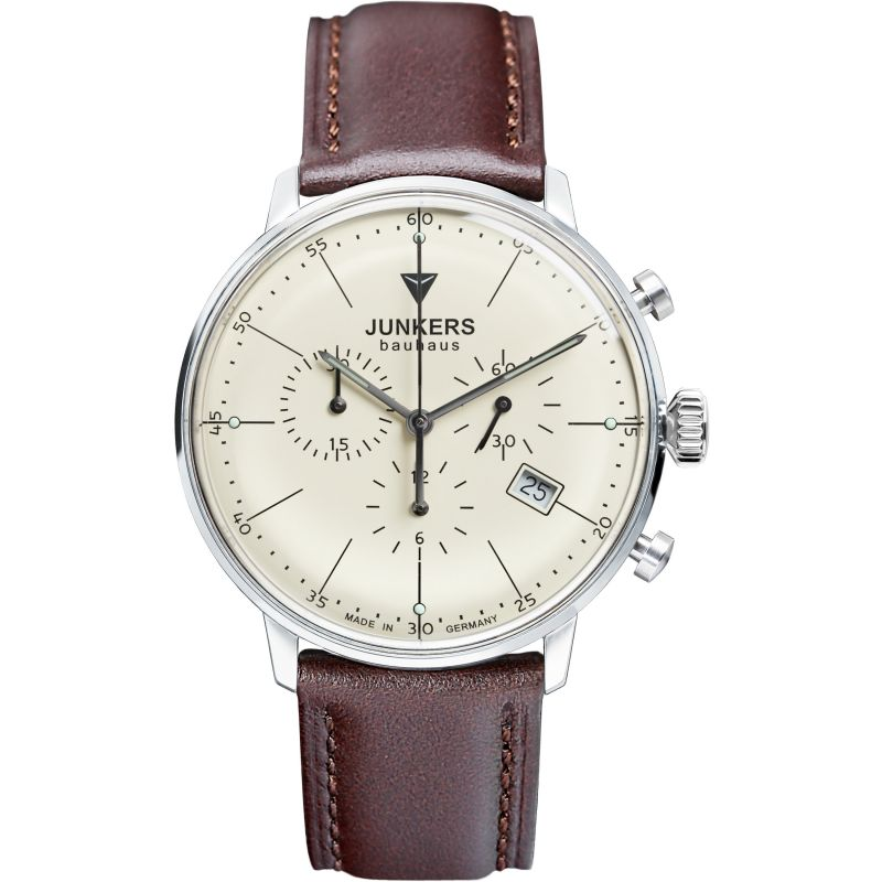 Mens Junkers Bauhaus Chronograph Watch 6088-5