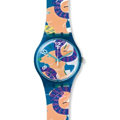 Swatch New Gent - The Goats Keeper Unisex horloge Meerkleurig SUOZ189