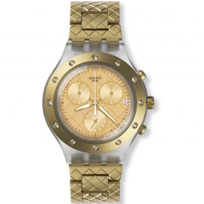 Ladies Swatch Waffelraffel Chronograph Watch SVCK4082AG
