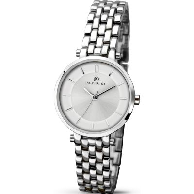 Accurist London Damklocka Silver 8006