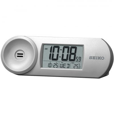 Seiko Clocks LCD Thermometer Desk Alarm Clock QHL067S