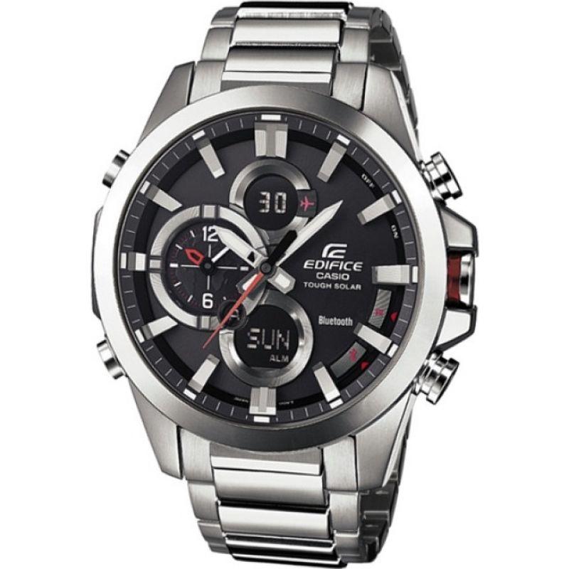 Mens Casio Edifice Bluetooth Hybrid Smartwatch Alarm Chronograph Watch