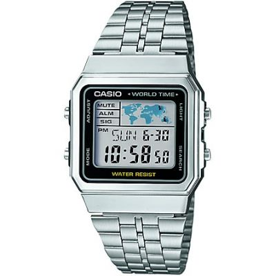 Casio Classic Unisexchronograph in Silber A500WEA-1EF