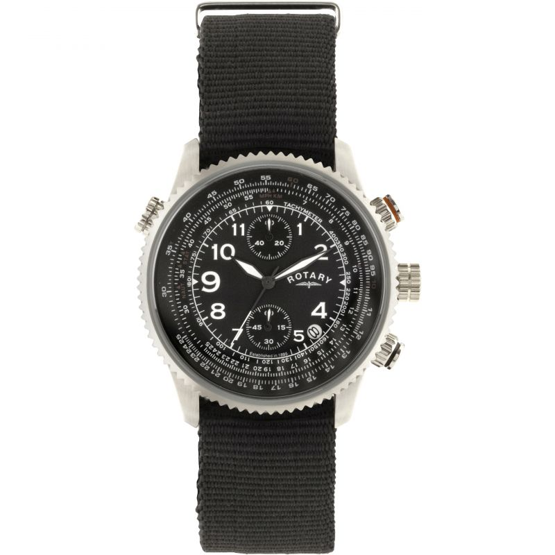 Mens Rotary Pilot Chronograph Watch GS00284/04