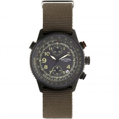 Mens Rotary Pilot Chronograph Watch GS00285/04