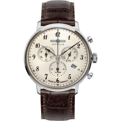 Mens Zeppelin Hindenburg Chronograph Watch 7086-4
