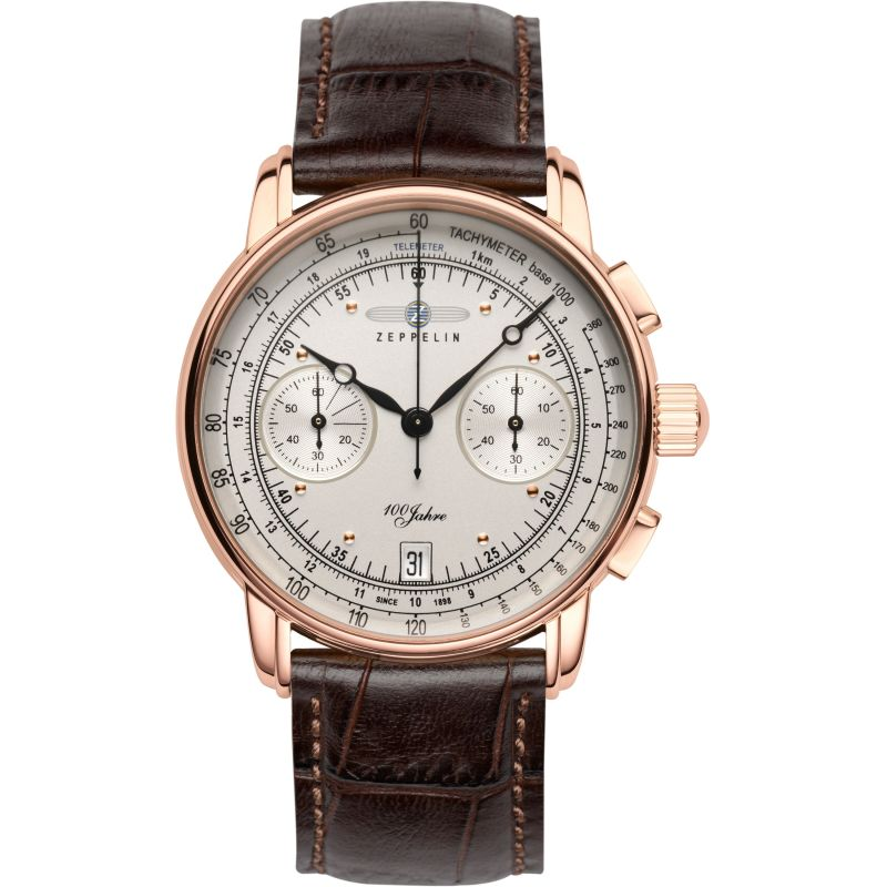 Mens Zeppelin 100 Jahre Chronograph Watch 7672-1