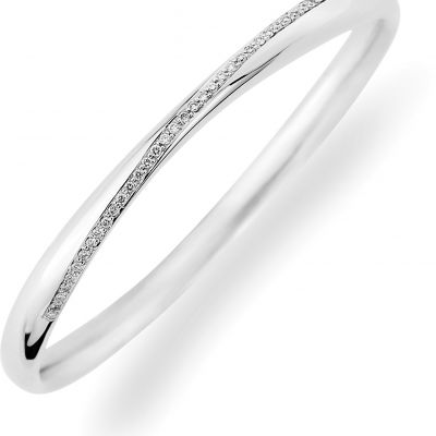 Jewellery 18ct White Gold White Gold Diamond Bangle