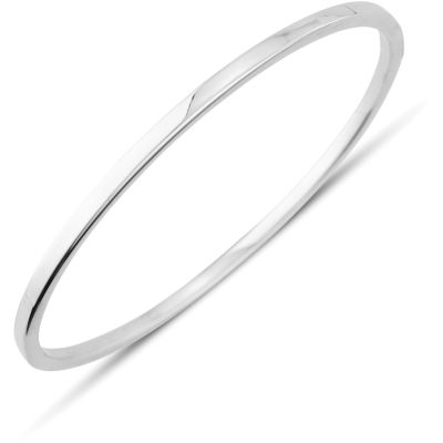 Jewellery 9ct White Gold Oval Bangle