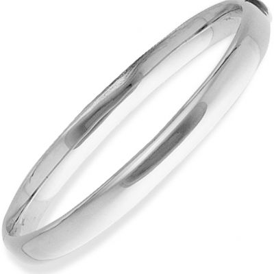 Jewellery White Gold Oval Bangle 9 karat vitguld