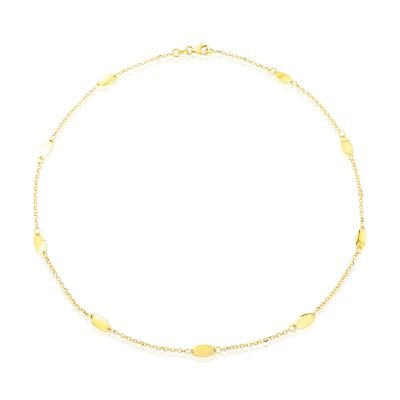 Jewellery 9ct Gold Fancy Necklet 17