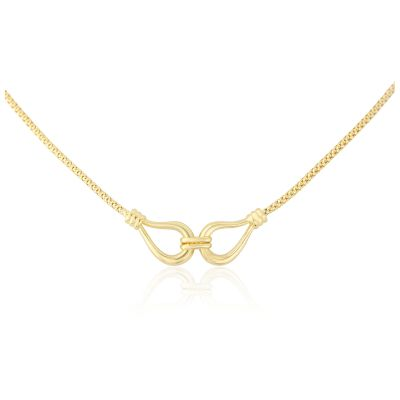Jewellery 9ct Gold Lantern Chain Collar 17
