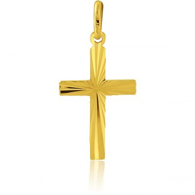 Jewellery 9ct Gold Diamond Cut Cross