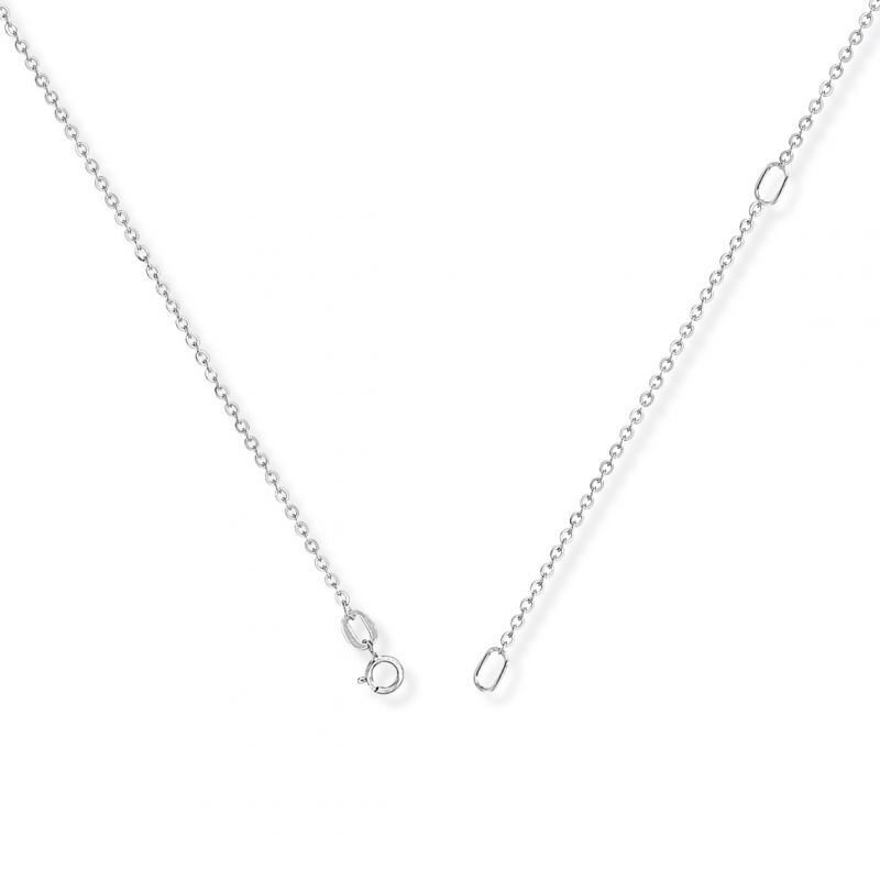 Jewellery 18ct White Gold White Gold Convertible Fine Trace Chain 16