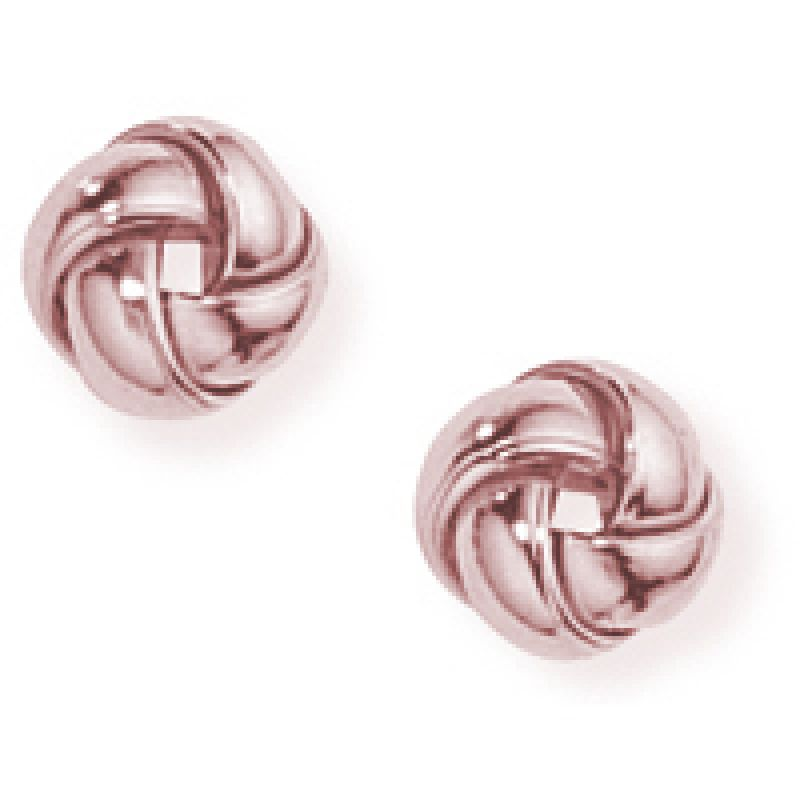 Jewellery 9ct Rose Gold Rose Gold Knot Earrings