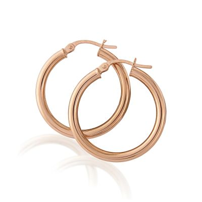 Jewellery Rose Gold Hoop Earrings 9 karat roséguld