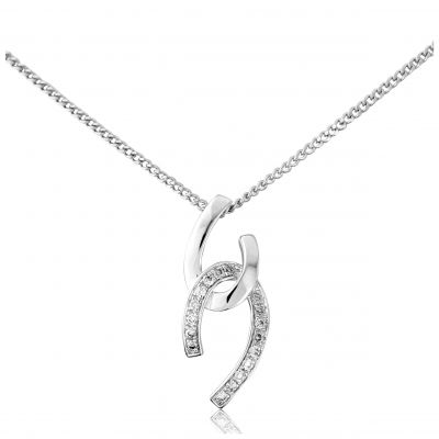Jewellery 9ct White Gold White Gold Diamond Pendant