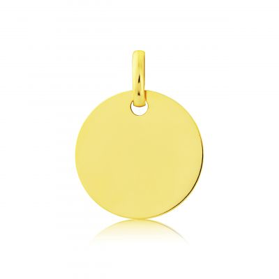 Jewellery 9ct Gold Round Disk Pendant