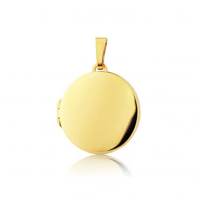 Jewellery Polished Round Locket 9 karat guld