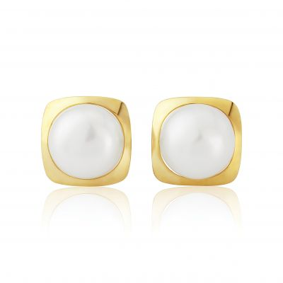 Jewellery 9ct Gold Freshwater Pearl Earrings