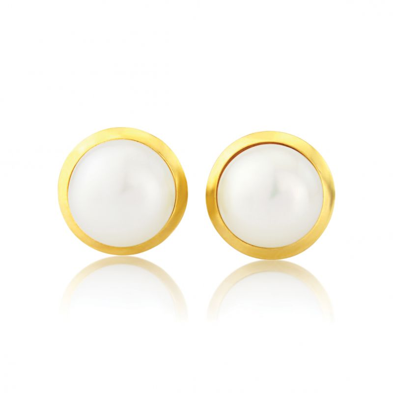 Jewellery 9ct Gold Freshwater Pearl Stud Earrings