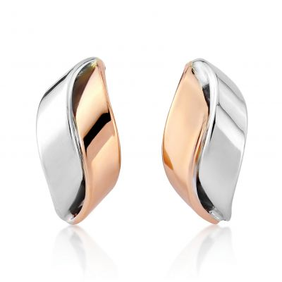 Jewellery White and Rose Gold Earrings Flerfärgat guld
