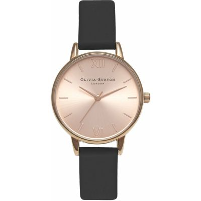 Sunray Rose Gold & Black Watch